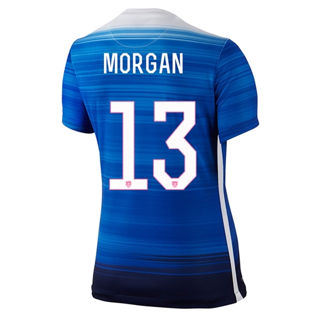 Nike USA 2015 Women's Away Soccer Jersey Morgan #13